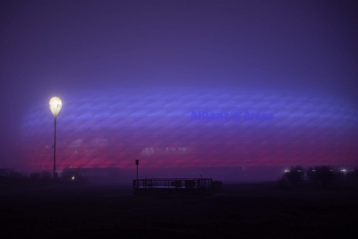 Allianz Arena in Fog