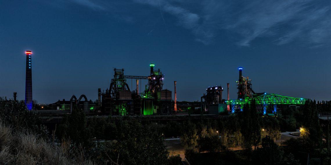 Landschaftpark Duisburg Nord (LaPaDu) bei Nacht