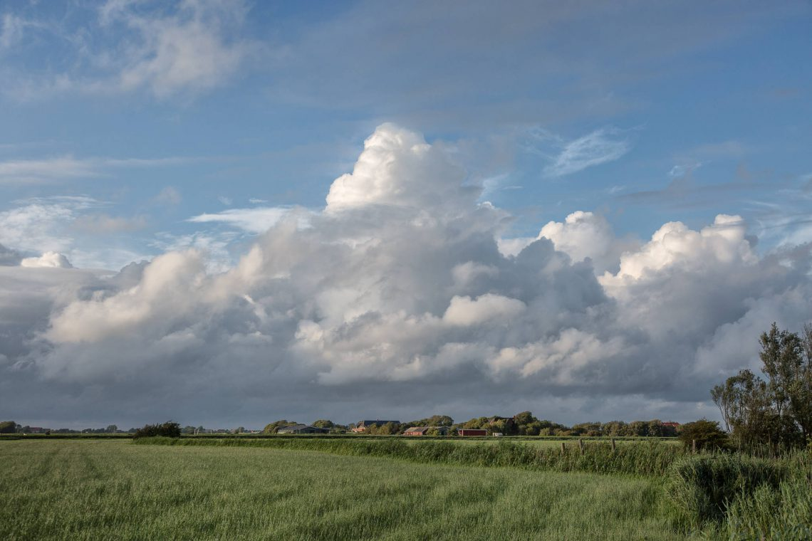Clouds over the Großen Koog