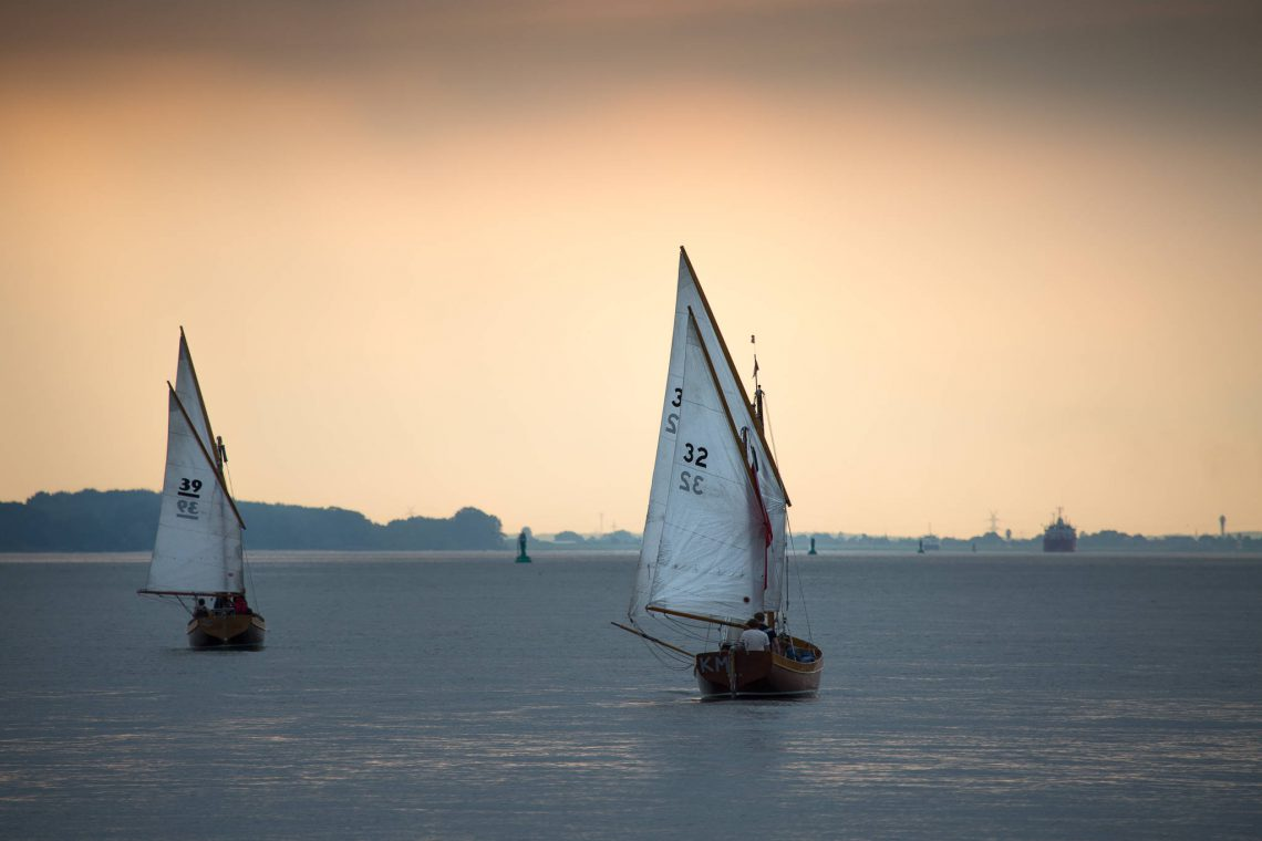 Sailing in the evening hours